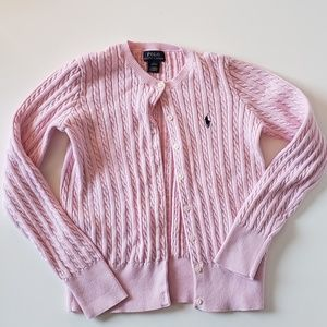 Polo Ralph Lauren  Girls' Cable-Knit Cardigan
